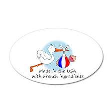 Stork Baby France USA 35x21 Oval Wall Peel