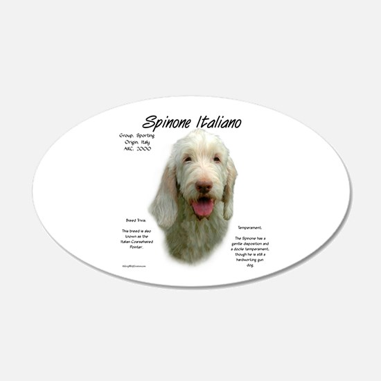 Spinone Italiano 20x12 Oval Wall Peel