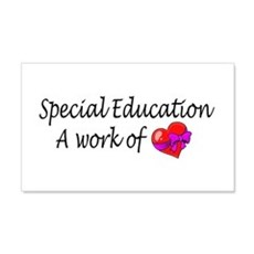 Special Education, A Work Of Love Sticker (Rectang