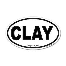 """Clayton, NC """"CLAY"""" 35x21 Oval Wall Peel"""