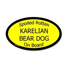 Spoiled Karelian Bear Dog On Board Wall Decal