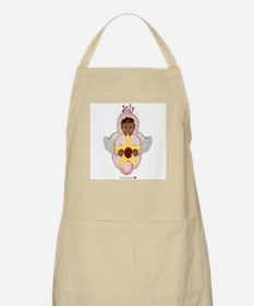 July Baby Angel Birthstone BBQ Apron