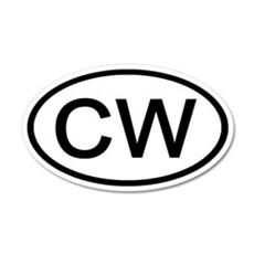CW - Initial Oval 20x12 Oval Wall Peel