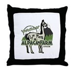 Alpaca Farm Throw Pillow