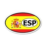 Spain Flag 35x21 Oval Wall Peel