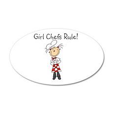 Girl Chefs Rule 20x12 Oval Wall Peel
