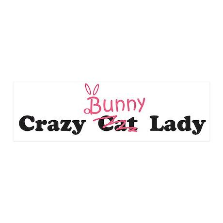 crazy bunny lady 20x6 Wall Peel