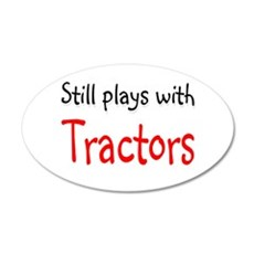 Still plays with Tractors 20x12 Oval Wall Peel
