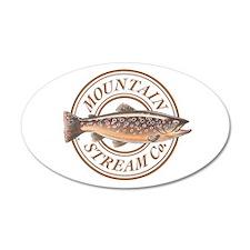 The Mountain Stream Co 35x21 Oval Wall Peel