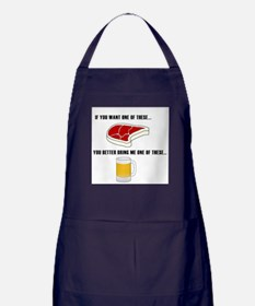 Cool Beer bbq Apron (dark)