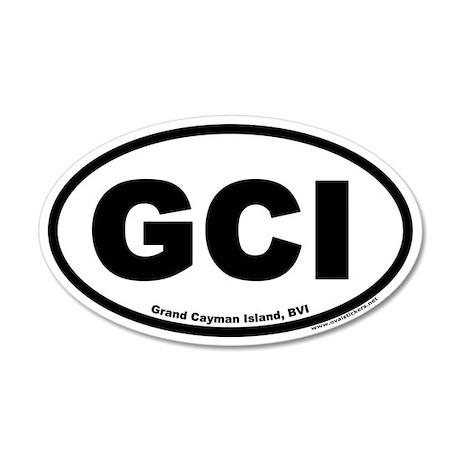 Grand Cayman Island GCI 20x12 Oval Wall Peel