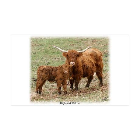 Highland Cow and Calf 35x21 Wall Peel