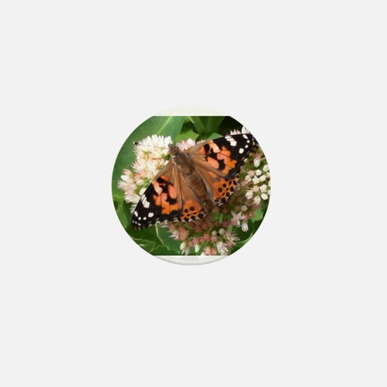 KWH Painted Lady Mini Button