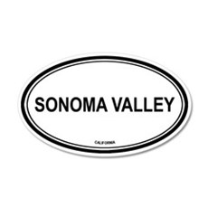 Sonoma Valley oval 20x12 Oval Wall Peel