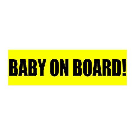 Baby on Board 20x6 Wall Peel
