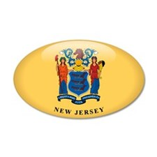 New Jersey 20x12 Oval Wall Peel