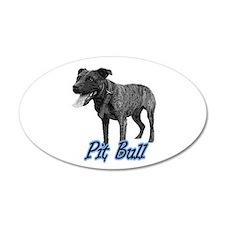 Brindle Bully 35x21 Oval Wall Peel