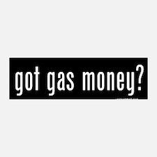 Got Gas Money? 36x11 Wall Peel