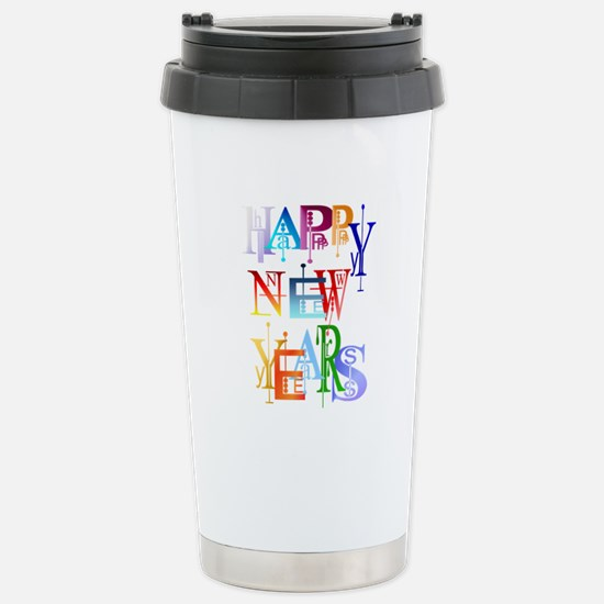 Happy New Years Stainless Steel Travel Mug