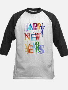 Happy New Years Kids Baseball Jersey