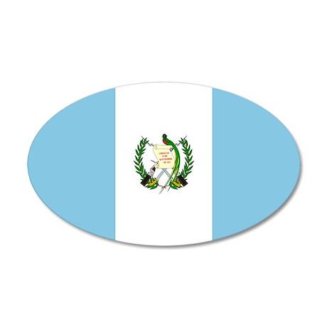 Guatemalan Flag 35x21 Oval Wall Peel