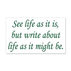 Write About Life 20x12 Wall Peel