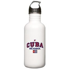 CU Cuba Baseball Beisbol Water Bottle