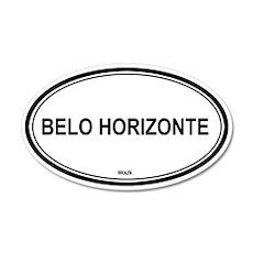 Belo Horizonte, Brazil euro 35x21 Oval Wall Peel