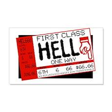 Ticket To Hell 20x12 Wall Peel