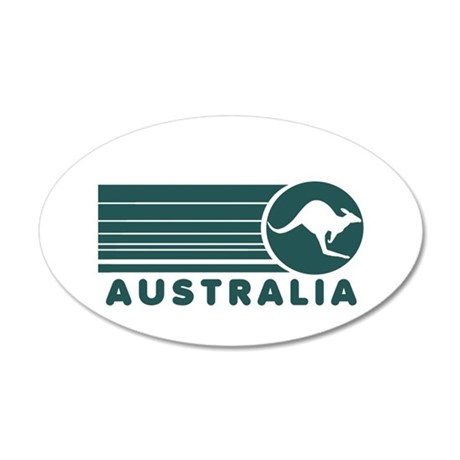 Australia Vintage Stripes 20x12 Oval Wall Peel