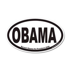 Obama For President Euro 20x12 Oval Wall Peel