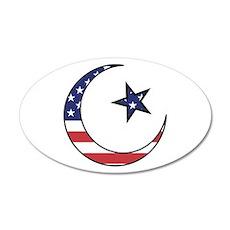 American Muslim 20x12 Oval Wall Peel