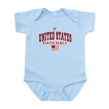 United States(USA) Baseball Infant Bodysuit