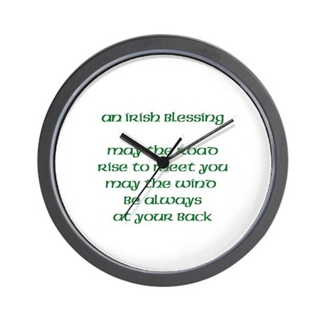 An Irish Blessing Wall Clock