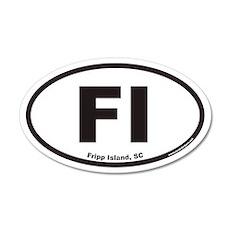 Fripp Island FI Euro 20x12 Oval Wall Peel