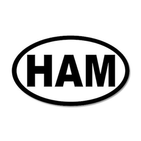 Ham Amateur Radio 35x21 Oval Wall Peel