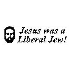 Jesus Was a Liberal Jew 36x11 Wall Peel