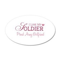 Army Girlfriend 20x12 Oval Wall Peel