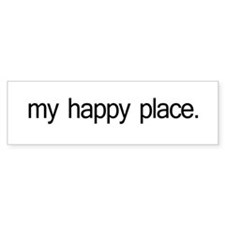 My Happy Place Bumper Sticker