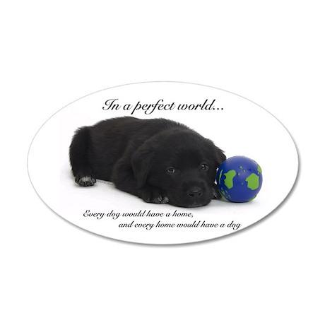 Perfect World (Lab) 35x21 Oval Wall Peel