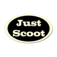 Just Scoot 20x12 Oval Wall Peel