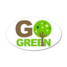 Go Green Tree Recycle 35x21 Oval Wall Peel