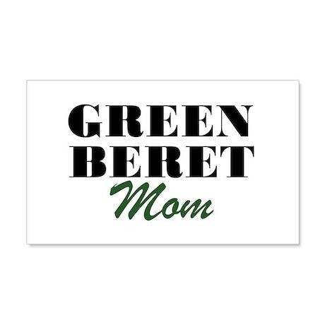 Green Beret Mom 20x12 Wall Peel