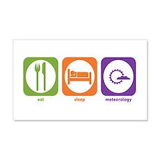 Eat Sleep Meteorology 20x12 Wall Peel