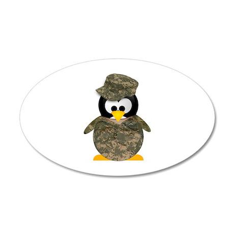 Army Penguin 20x12 Oval Wall Peel