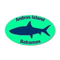 Andros Island 20x12 Oval Wall Peel (Green)