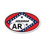 Arkansas State Flag 20x12 Oval Wall Peel