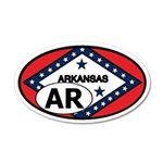 Arkansas State Flag 35x21 Oval Wall Peel