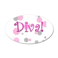 Diva Bubbles 20x12 Oval Wall Peel