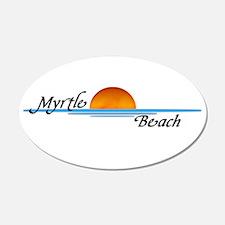 Myrtle Beach Sunset 20x12 Oval Wall Peel